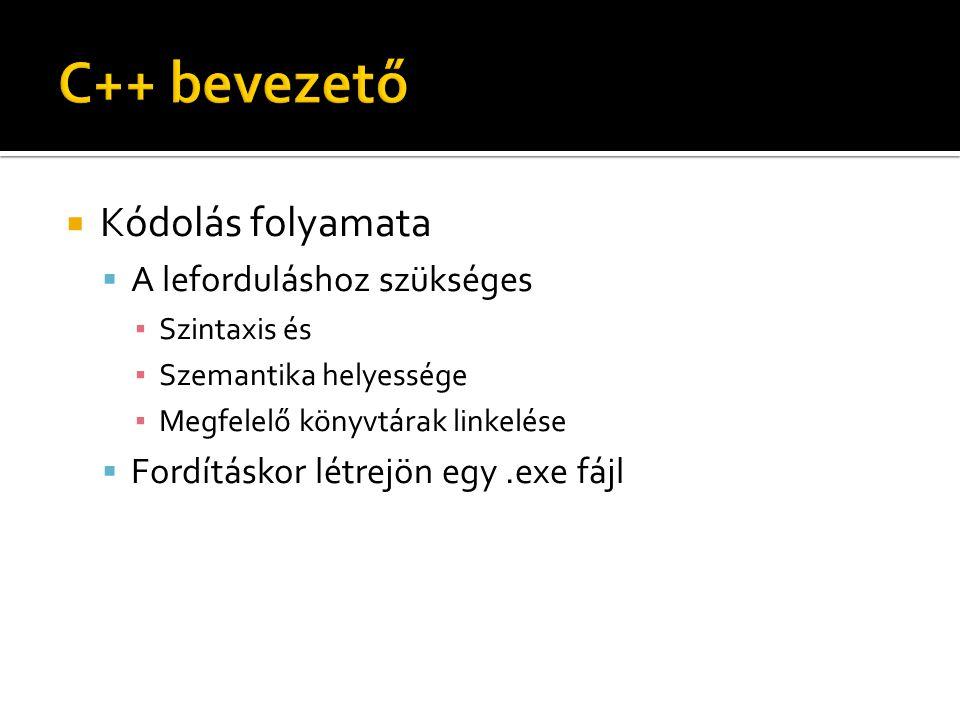 #include Belinkeljük az iostream könyvtárat a fejlécének megnevezésével, amiben a bemenet-kimenet vezérlő utasítások találhatók, pl.