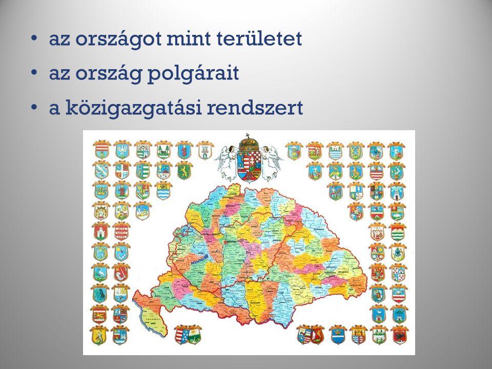 az országot mint területet az ország polgárait a közigazgatási rendszert