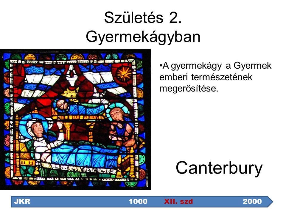 Születés 2. Gyermekágyban Canterbury JKR1000 XII. szd2000 A gyermekágy a Gyermek emberi természetének megerősítése.