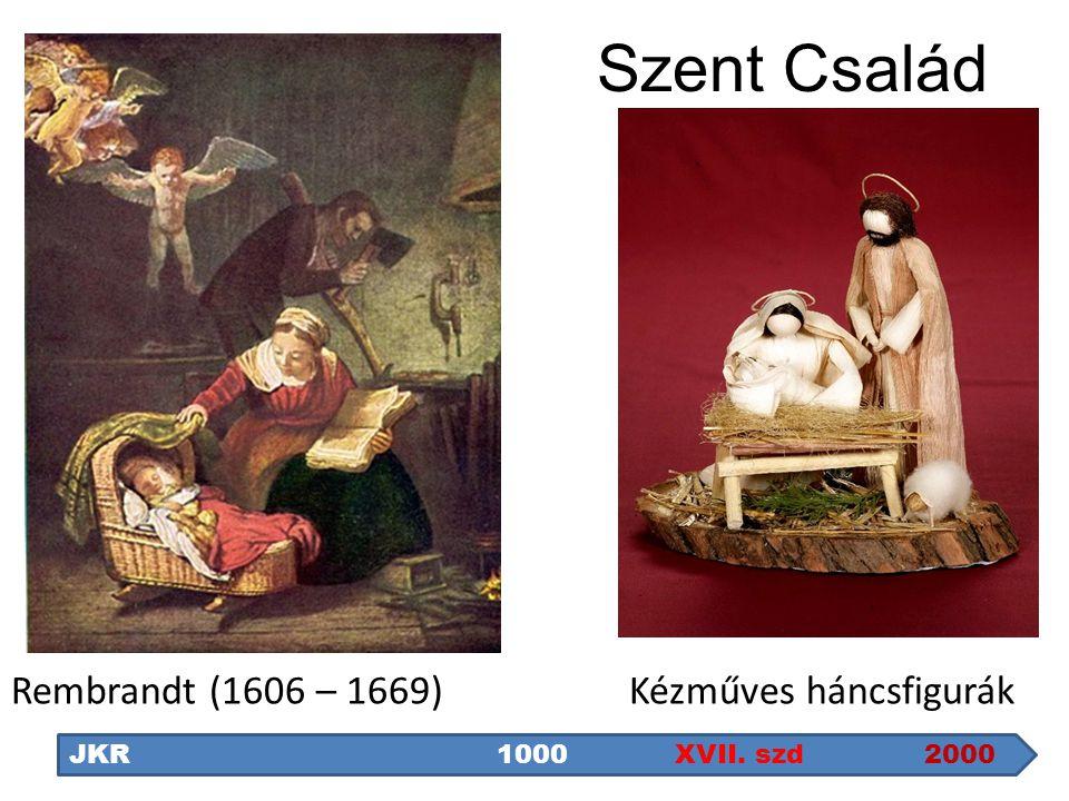 Szent Család JKR1000 XVII. szd 2000 Kézműves háncsfigurákRembrandt (1606 – 1669)