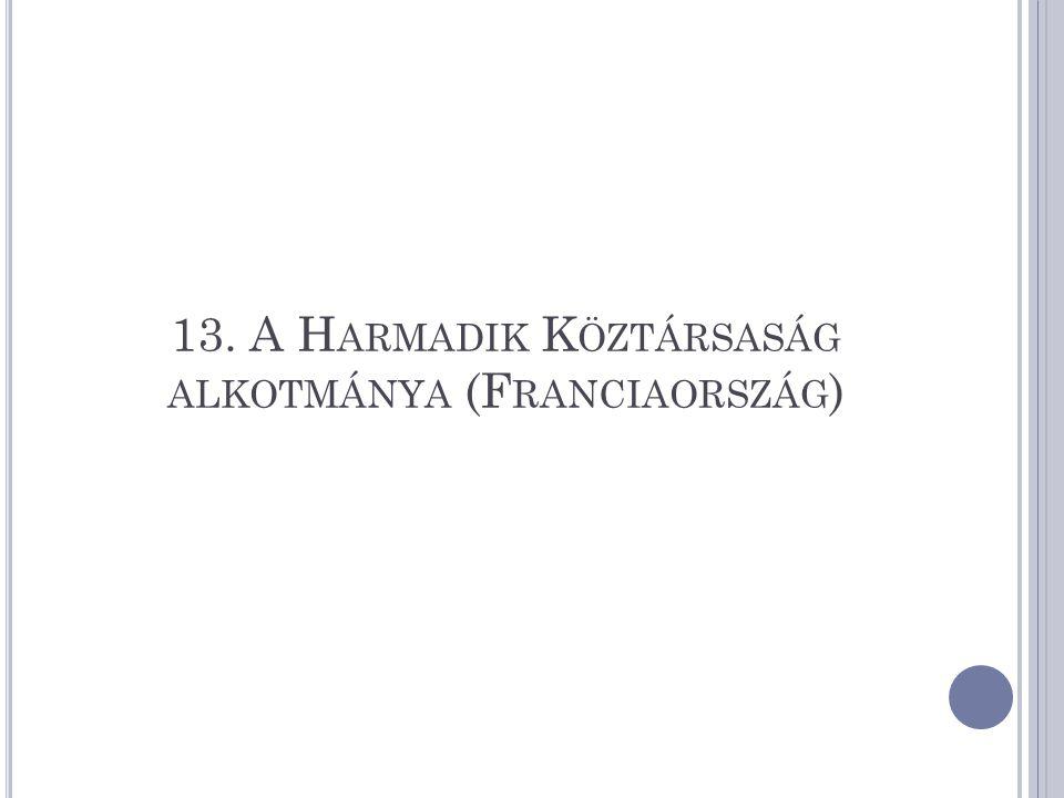 13. A H ARMADIK K ÖZTÁRSASÁG ALKOTMÁNYA (F RANCIAORSZÁG )