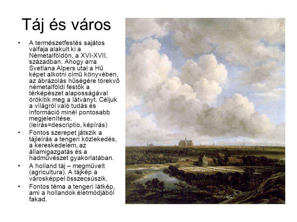 Táj és város A természetfestés sajátos válfaja alakult ki a Németalföldön, a XVI-XVII. században. Ahogy arra Svetlana Alpers utal a Hű képet alkotni c