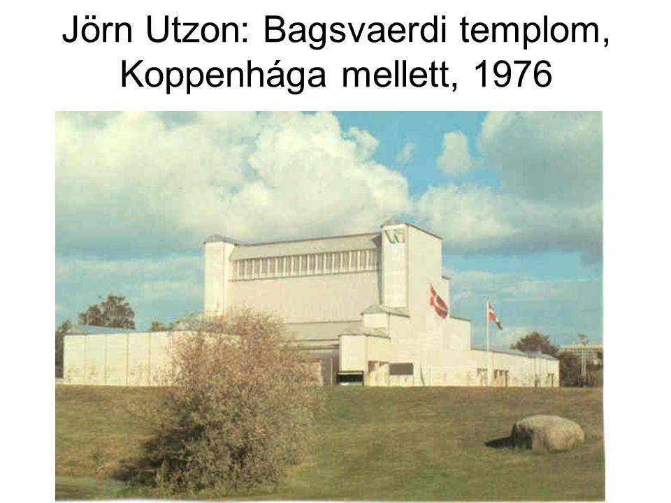 Jörn Utzon: Bagsvaerdi templom, Koppenhága mellett, 1976
