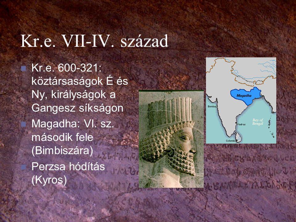 Kasztrendszer Varna (szín): bráhmana, ksatrija, vaisja, sudra.