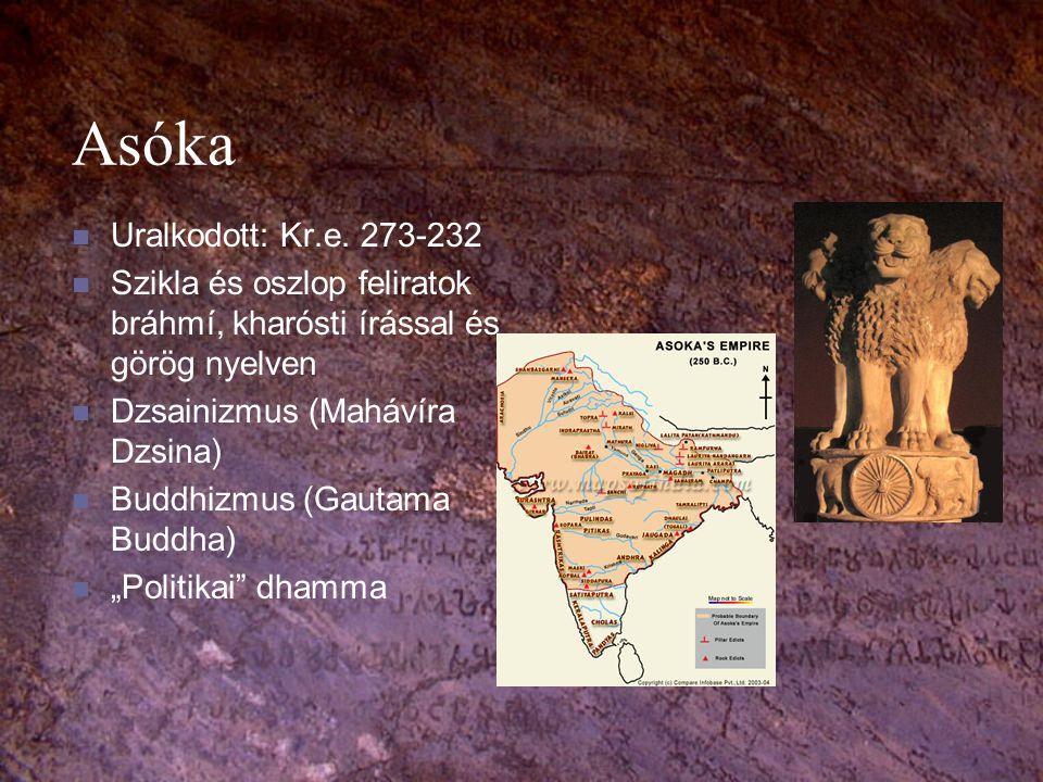 Kr.e.II.-Kr.u.IV.század Kr.e. 180: Maurja birodalom felbomlik Kr.e.