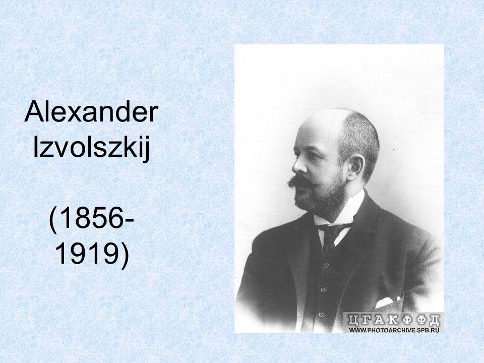 Alexander Izvolszkij (1856- 1919)