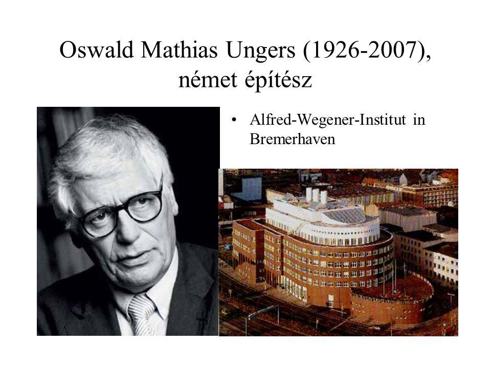 Oswald Mathias Ungers (1926-2007), német építész Alfred-Wegener-Institut in Bremerhaven