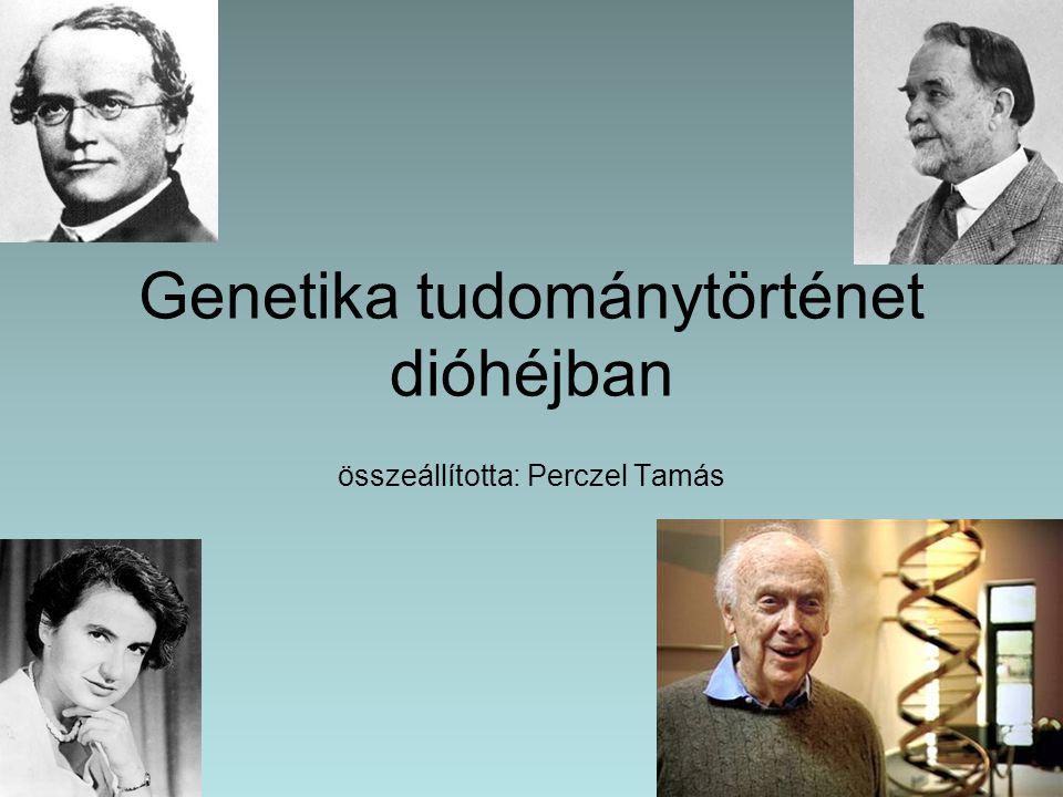 Genetika tudománytörténet dióhéjban összeállította: Perczel Tamás