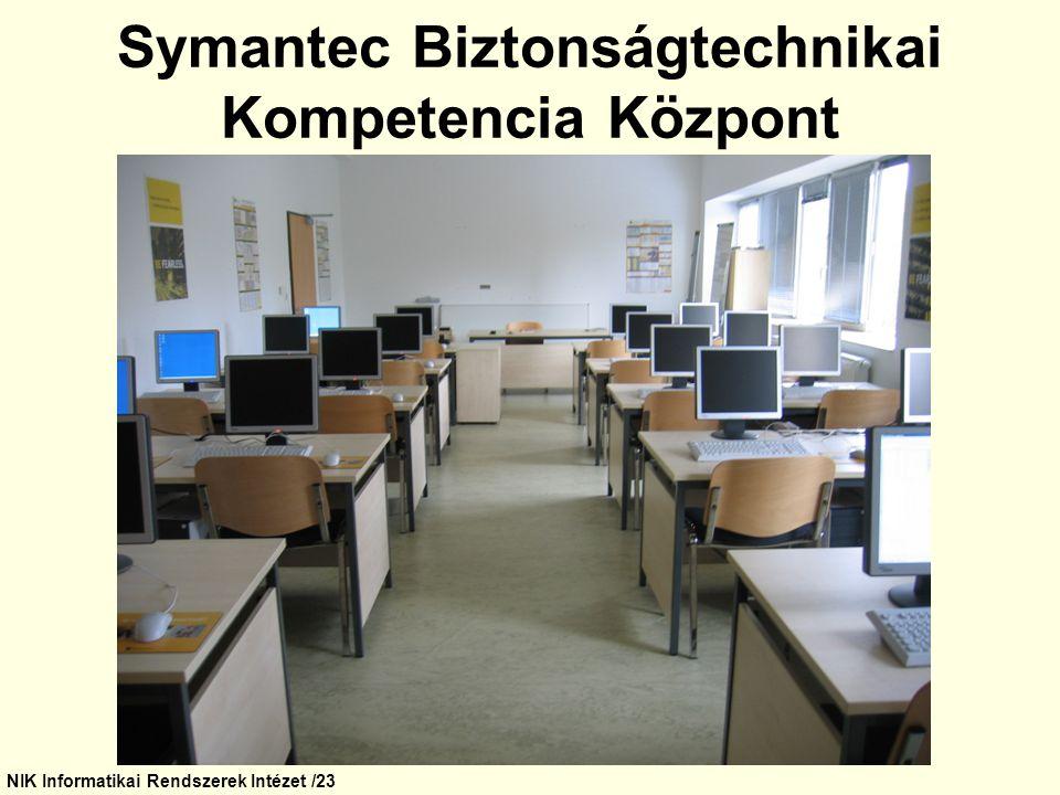 NIK Informatikai Rendszerek Intézet /23 Symantec Biztonságtechnikai Kompetencia Központ