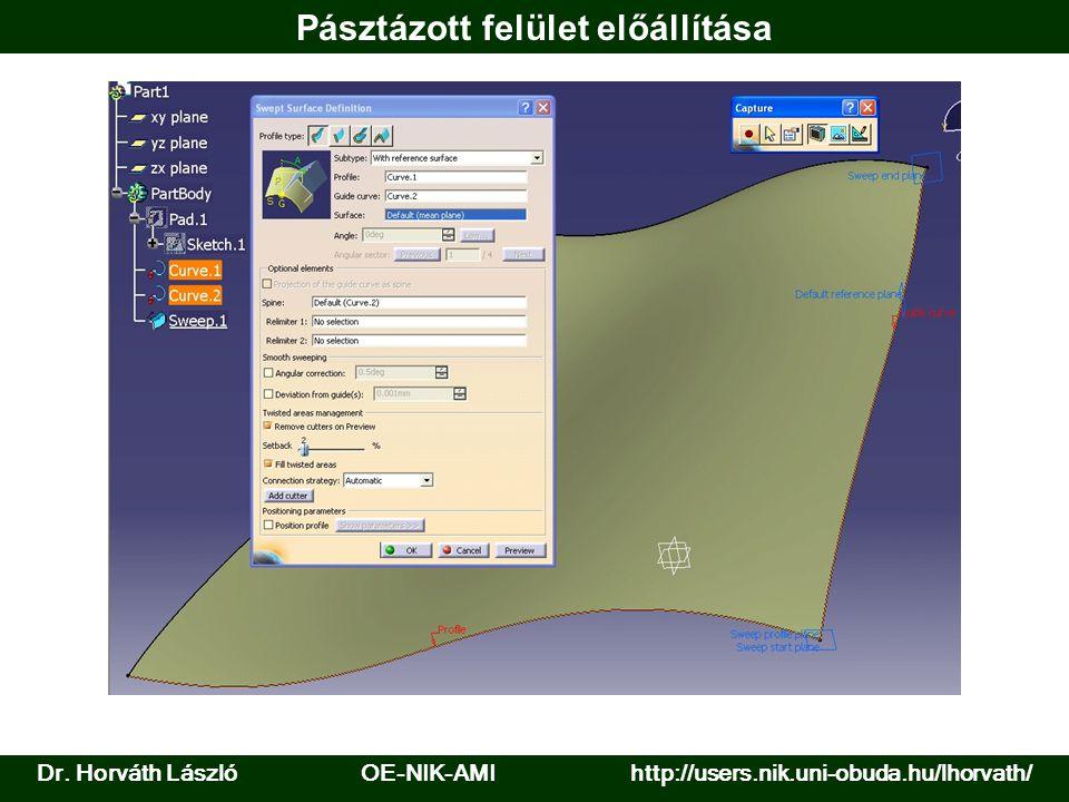 Pásztázott felület előállítása Dr. Horváth László OE-NIK-AMI http://users.nik.uni-obuda.hu/lhorvath/