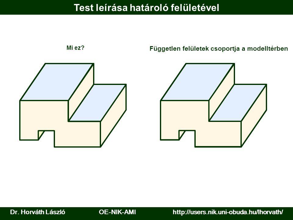 Geometria: görbe előállítása Nyitott görbe Szabályszerűség alapján: analitikus görbék Zárt görbe Vezérlő sokszög Megadott pontokon átmenő interpolációs görbe Megadott pontokkal vezérelt (harmonikus) alakú közelítő (approximációs) görbe Dr.