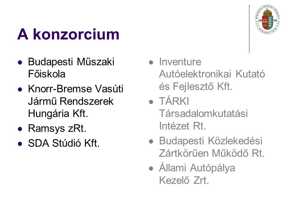 A konzorcium Budapesti Műszaki Főiskola Knorr-Bremse Vasúti Jármű Rendszerek Hungária Kft.