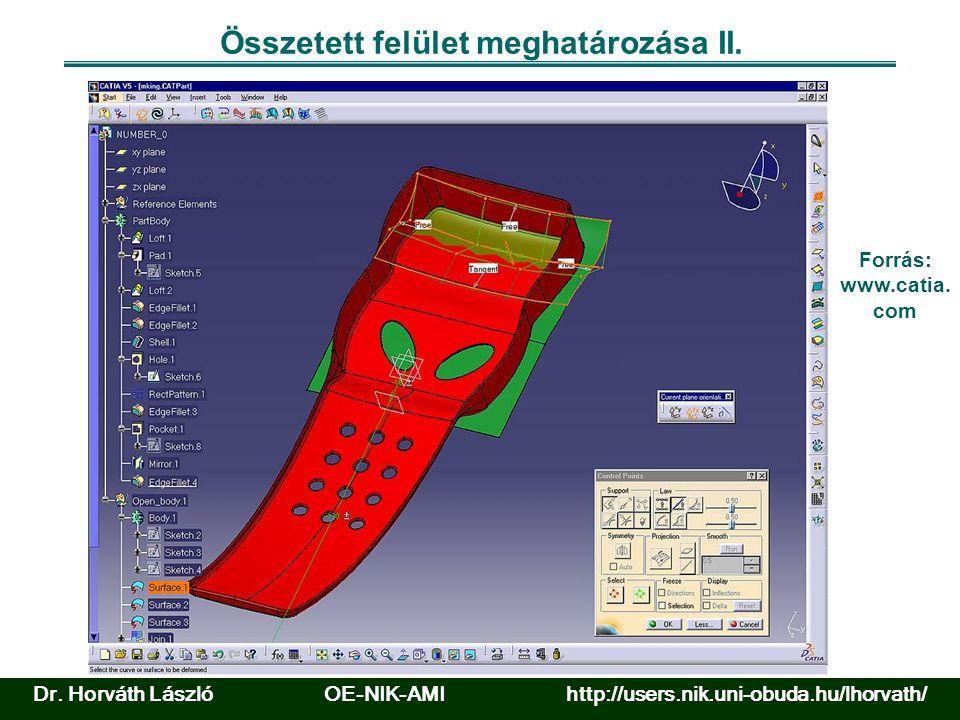 Összetett felület meghatározása II. Forrás: www.catia.
