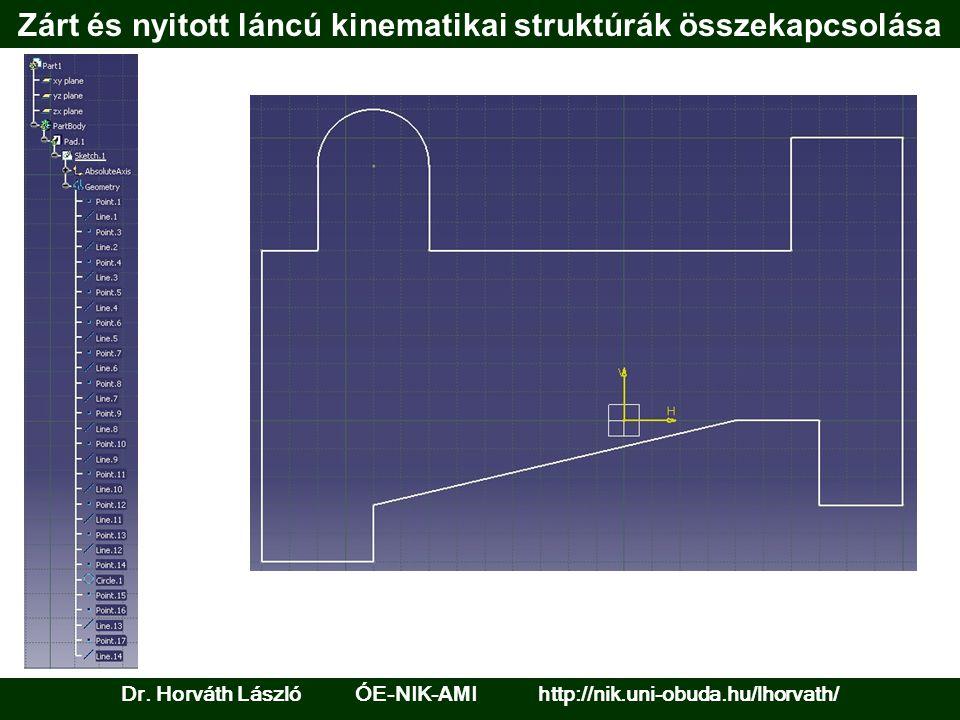 Zárt és nyitott láncú kinematikai struktúrák összekapcsolása Dr. Horváth László ÓE-NIK- AM I http://nik.uni-obuda.hu/lhorvath/
