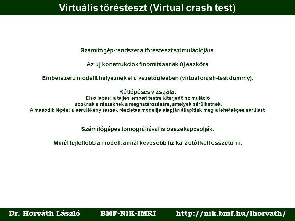 Virtuális törésteszt (Virtual crash test) Dr.