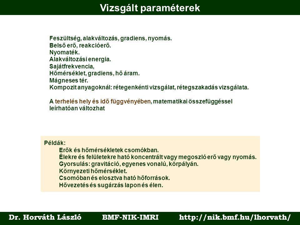 Vizsgált paraméterek Dr.