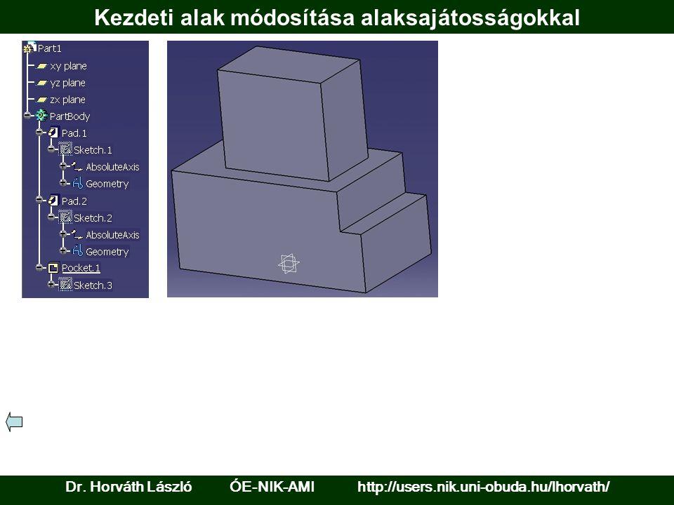 Kezdeti alak módosítása alaksajátosságokkal Dr. Horváth László ÓE-NIK-AMI http://users.nik.uni-obuda.hu/lhorvath/