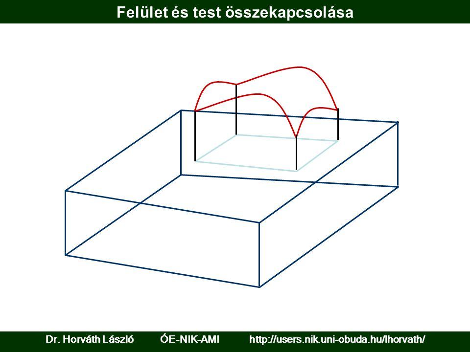 Felület és test összekapcsolása Dr. Horváth László ÓE-NIK-AMI http://users.nik.uni-obuda.hu/lhorvath/