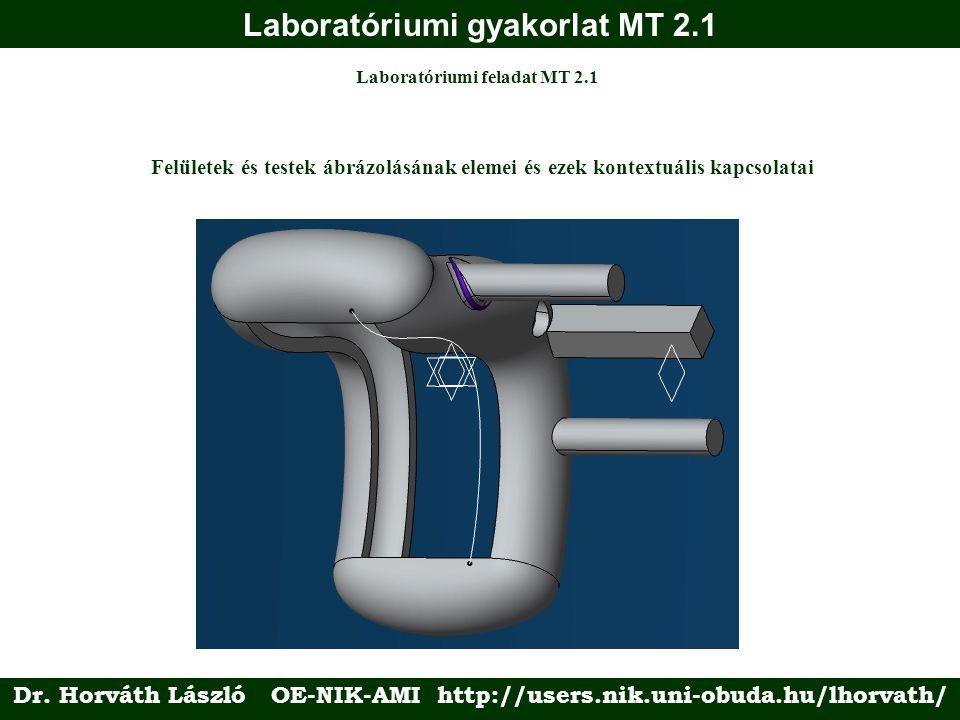 Laboratóriumi gyakorlat MT 2.1 Laboratóriumi feladat MT 2.1 Felületek és testek ábrázolásának elemei és ezek kontextuális kapcsolatai