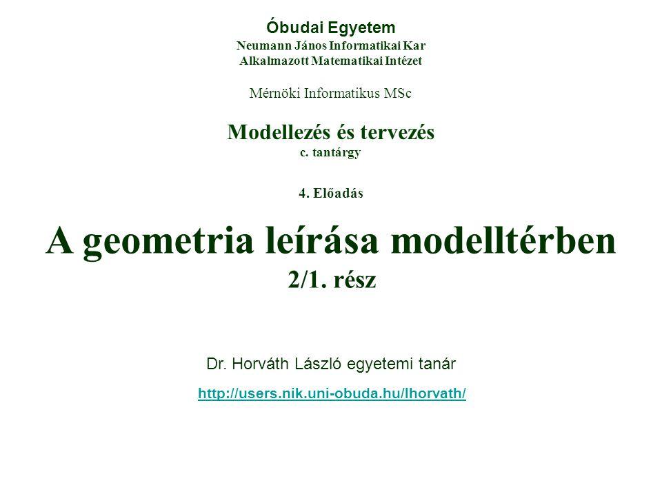 Modellezés és tervezés c.