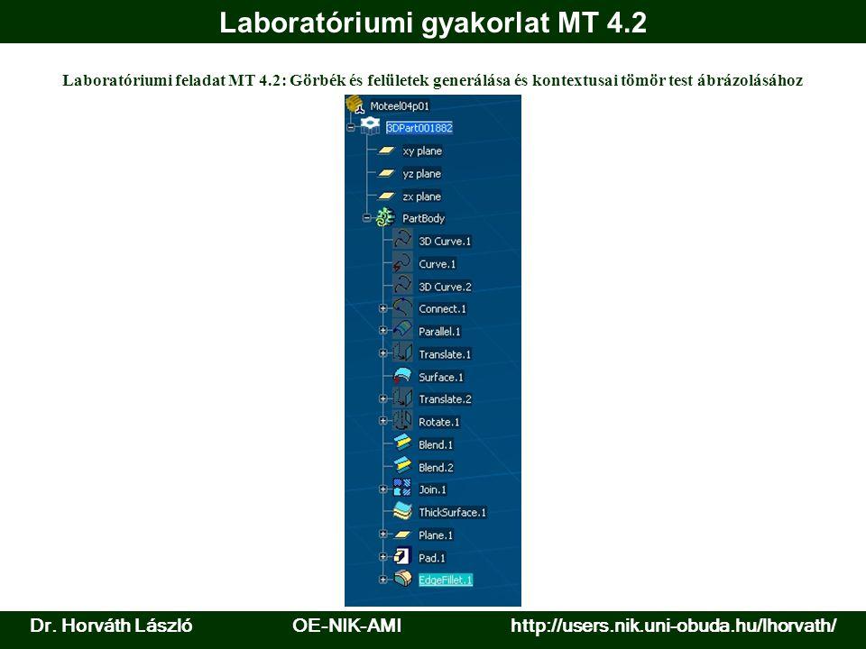 Laboratóriumi gyakorlat MT 4.2 Dr.