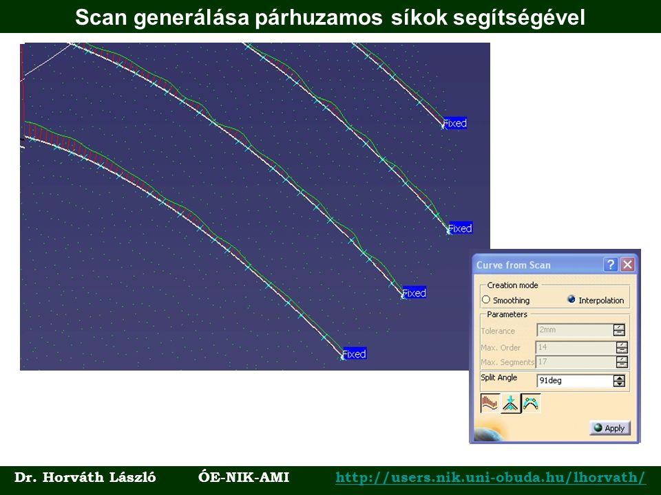 Scan generálása párhuzamos síkok segítségével Dr. Horváth László ÓE-NIK-AMI http://users.nik.uni-obuda.hu/lhorvath/http://users.nik.uni-obuda.hu/lhorv