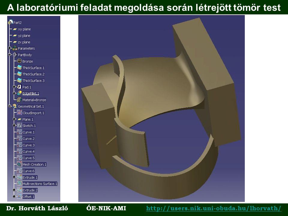 A laboratóriumi feladat megoldása során létrejött tömör test Dr. Horváth László ÓE-NIK-AMI http://users.nik.uni-obuda.hu/lhorvath/http://users.nik.uni