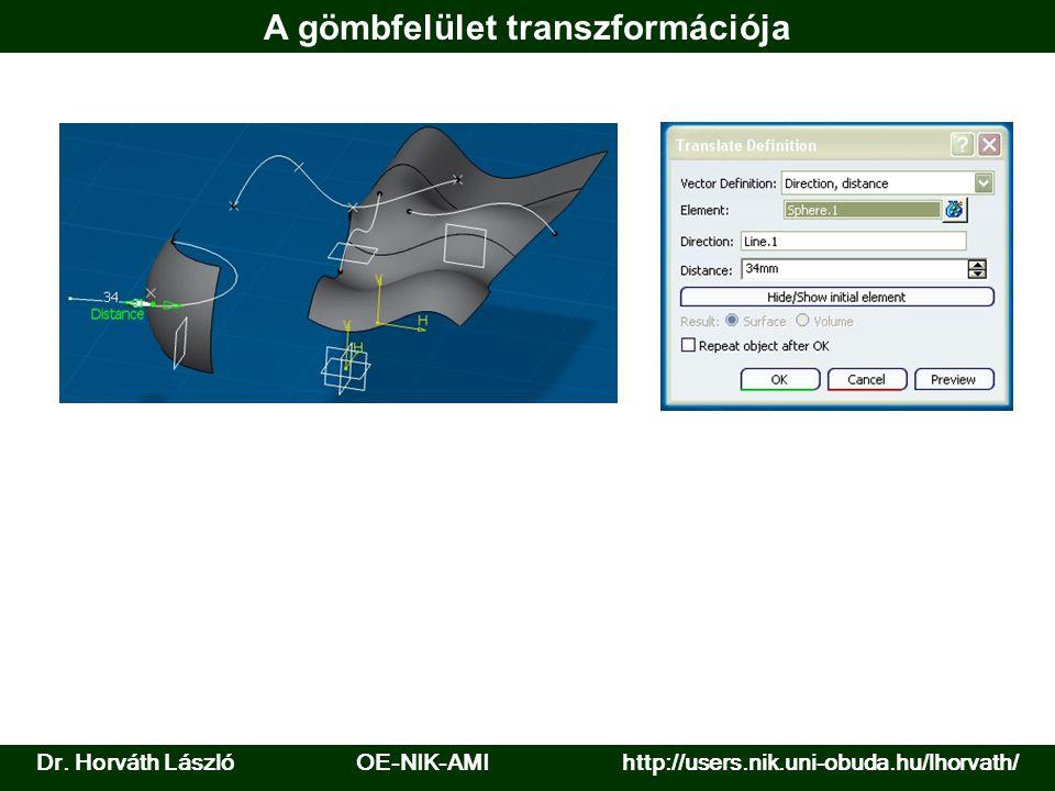Dr. Horváth László OE-NIK-AMI http://users.nik.uni-obuda.hu/lhorvath/ A gömbfelület transzformációja