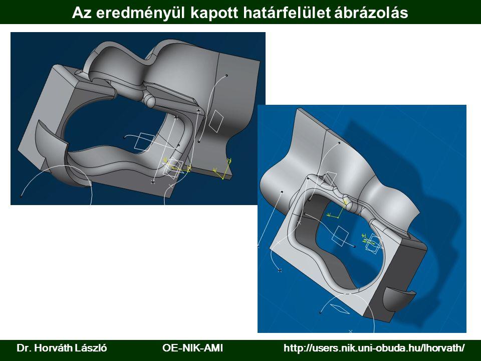Dr. Horváth László OE-NIK-AMI http://users.nik.uni-obuda.hu/lhorvath/ Az eredményül kapott határfelület ábrázolás