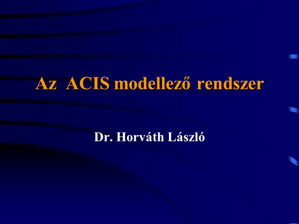 Az ACIS modellező rendszer Dr. Horváth László