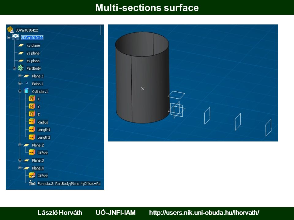 Solid features between surfaces and their offsets László Horváth UÓ-JNFI-IAM http://users.nik.uni-obuda.hu/lhorvath/