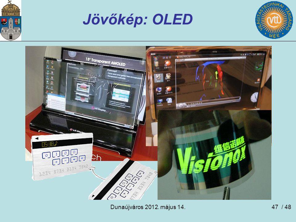 Dunaújváros 2012. május 14.47 Jövőkép: OLED / 48