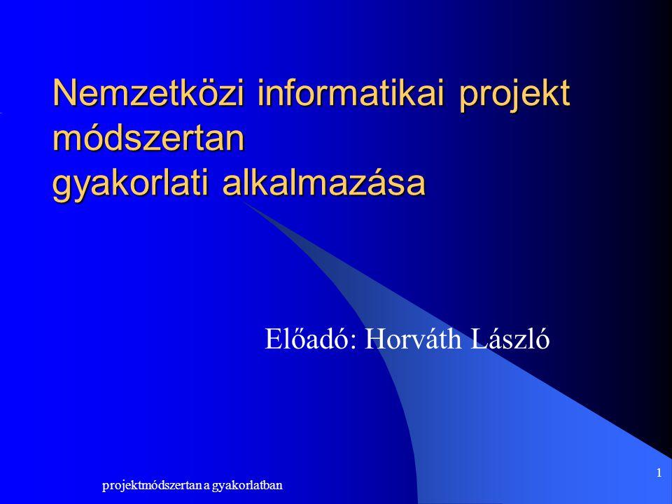 projektmódszertan a gyakorlatban 12 KÖSZÖNÖM A FIGYELMET Elérhetőség HorvathL@fkf.hu