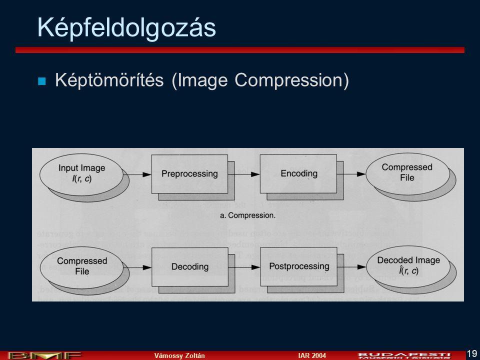 Vámossy Zoltán IAR 2004 19 n Képtömörítés (Image Compression) Képfeldolgozás