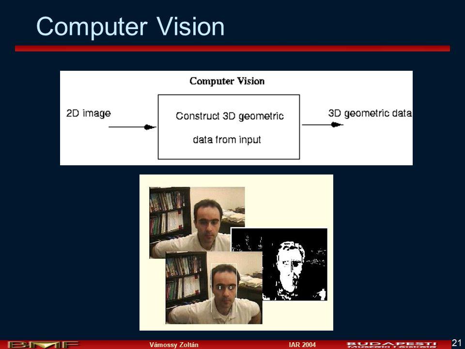 Vámossy Zoltán IAR 2004 21 Computer Vision