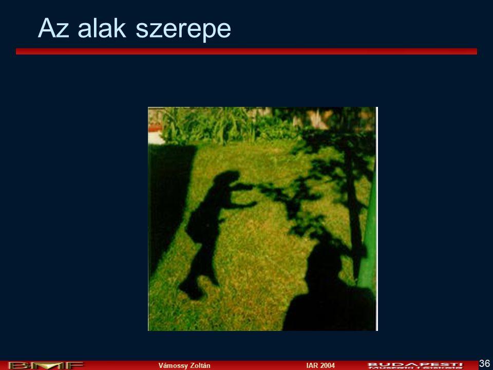 Vámossy Zoltán IAR 2004 36 Az alak szerepe