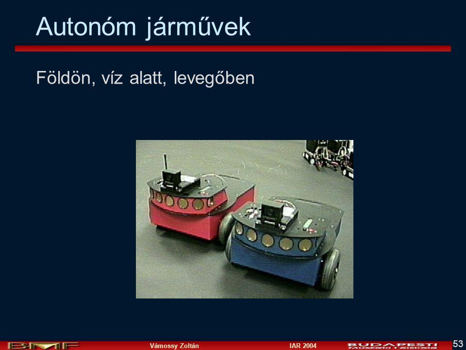 Vámossy Zoltán IAR 2004 53 Autonóm járművek Földön, víz alatt, levegőben