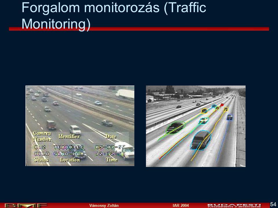 Vámossy Zoltán IAR 2004 54 Forgalom monitorozás (Traffic Monitoring)