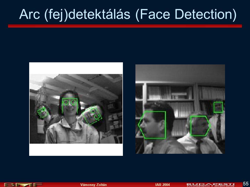 Vámossy Zoltán IAR 2004 55 Arc (fej)detektálás (Face Detection)