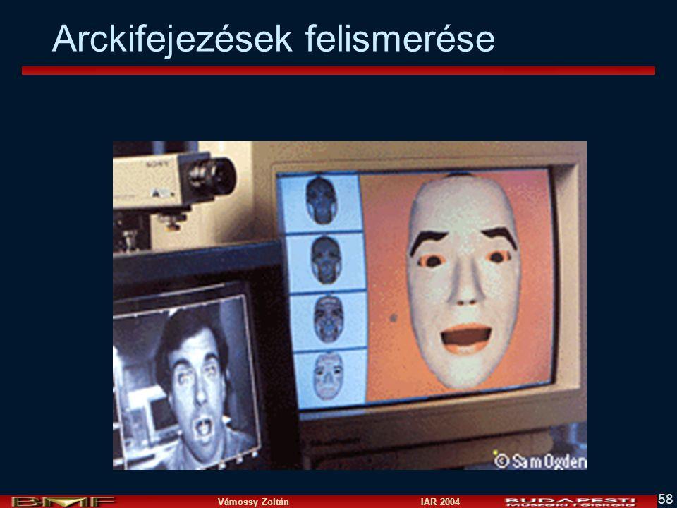 Vámossy Zoltán IAR 2004 58 Arckifejezések felismerése