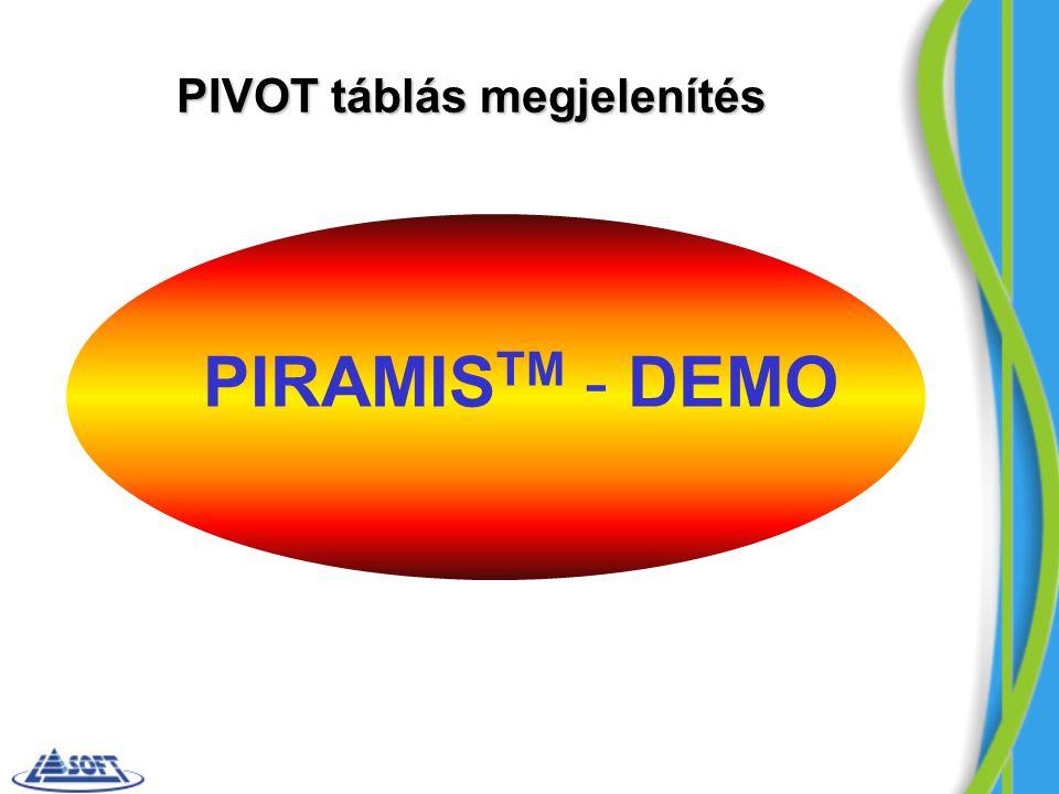 PIVOT táblás megjelenítés PIRAMIS TM - DEMO