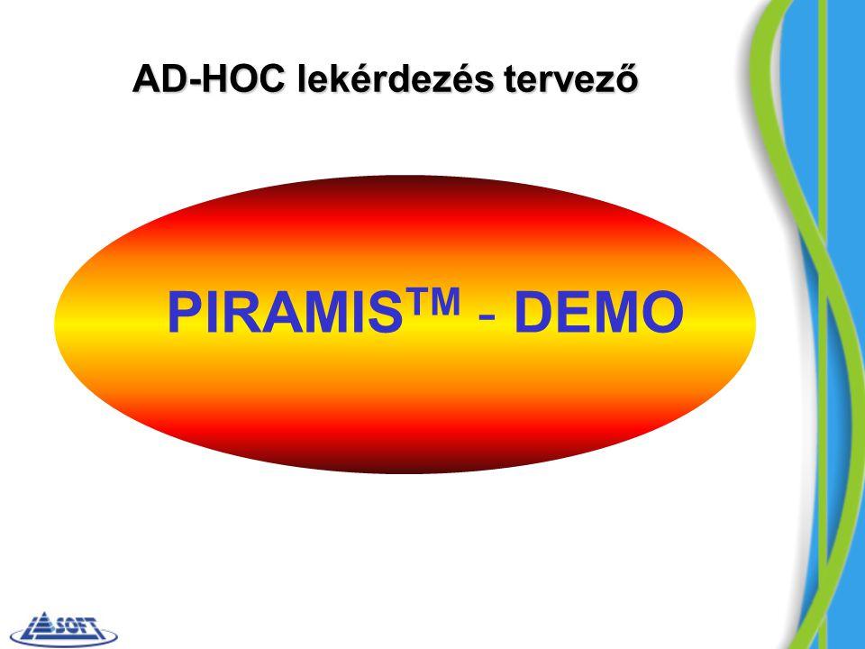 PIRAMIS TM - DEMO AD-HOC lekérdezés tervező