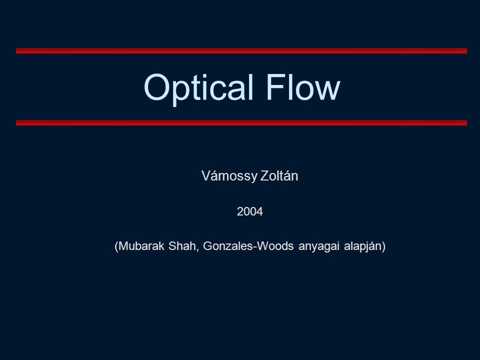 Optical Flow Optikai folyamok vizsgálata Mubarak Shah és Gary Bradski (Stanford University) anyagai alapján