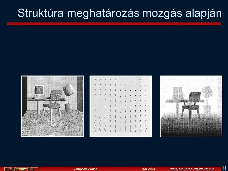 Vámossy Zoltán IAR 2004 11 Struktúra meghatározás mozgás alapján