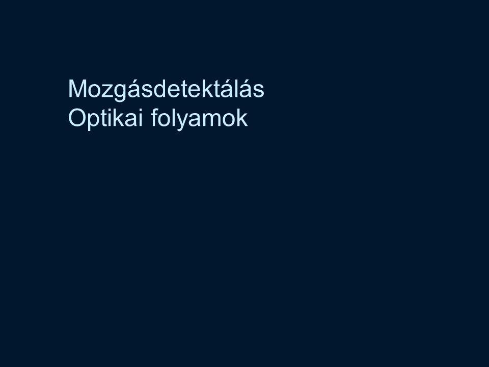 Vámossy Zoltán IAR 2004 23 Optical Flow u v.