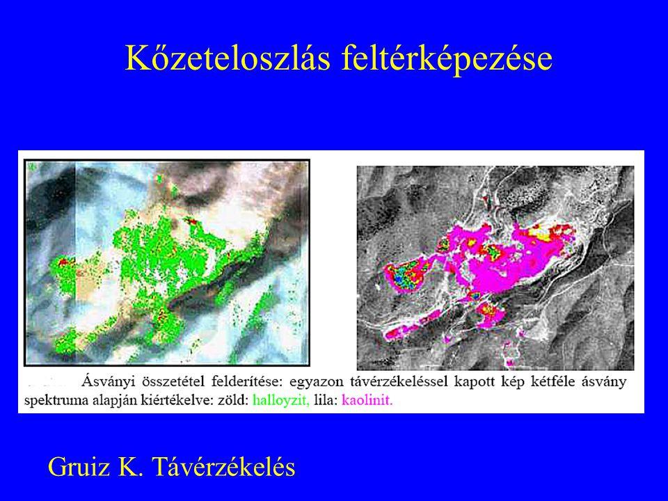 Szennyezés felmérés légifotó alapján Háromdimenziós térkép, ahol a harmadik Szennyezésre jellemző dimenzióban a spektrumok vannak.