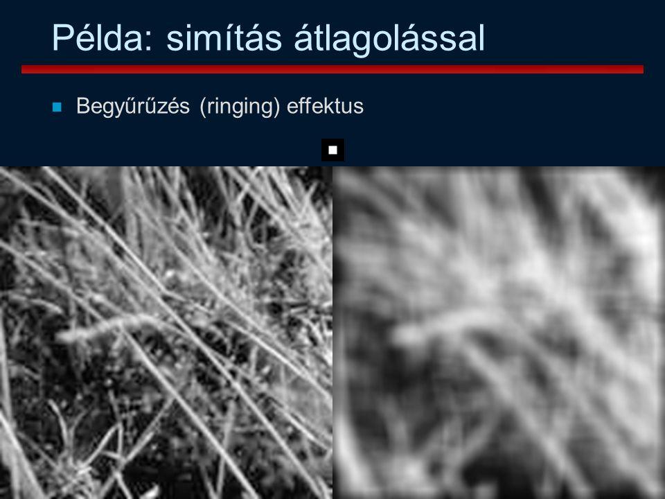 Vámossy Zoltán IAR 2004 30 Példa: simítás átlagolással n Begyűrűzés (ringing) effektus