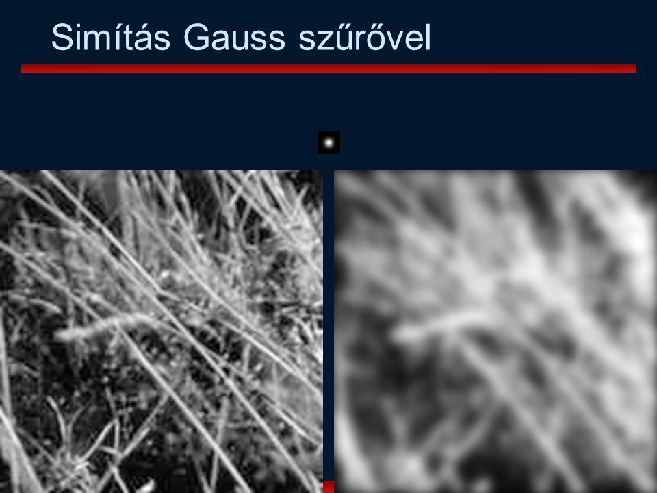 Vámossy Zoltán IAR 2004 33 Simítás Gauss szűrővel