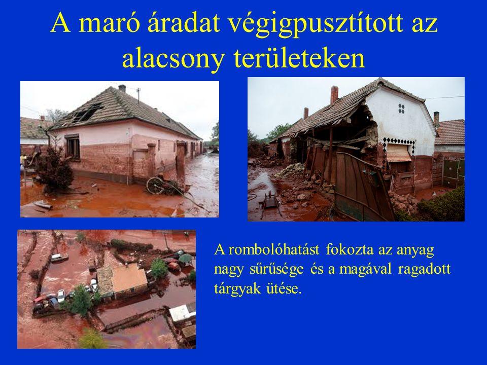 A gipsz hatása Padisák J.etal. Vörösiszap katasztrófa: következmények és tapasztalatok MTA, 2011.