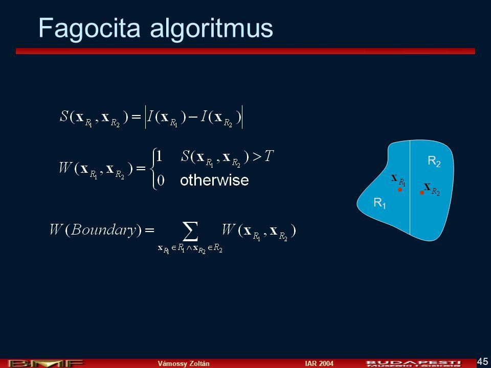 Vámossy Zoltán IAR 2004 45 Fagocita algoritmus R1R1 R2R2